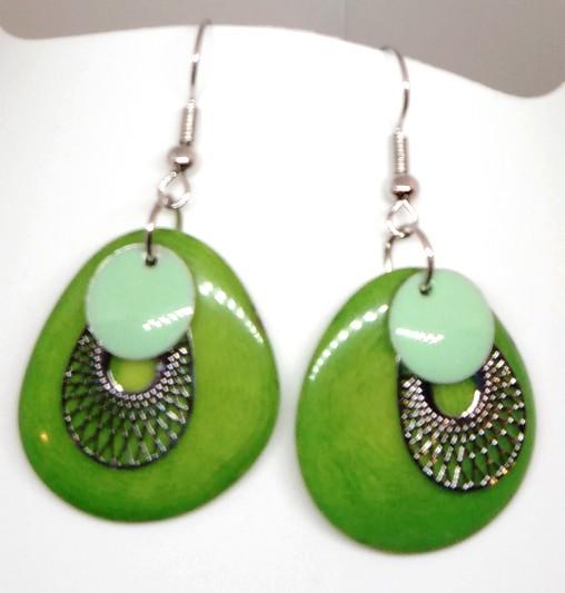 boucles tagua vert