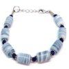 bracelet femme perles bleu ardoise