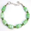bracelet femme perles vert