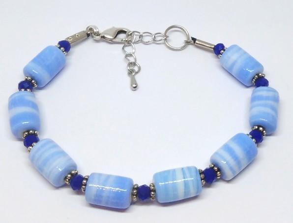 bracelet perles bleu