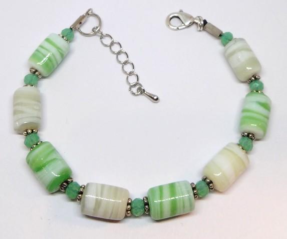 bracelet perles vert