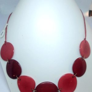 collier tagua rouge